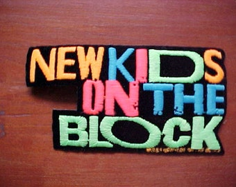 1989 New Kids on the Block NKOTB Patch New Old Stock Mint Condition Never Used Now A Rare Collectible Heat Press or Sewn On Colorful
