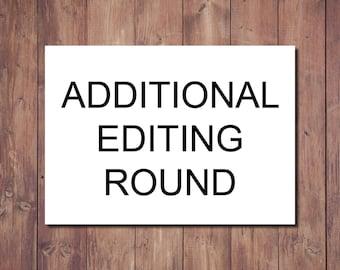 Additional Editing Round