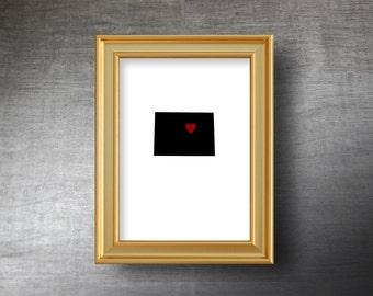 Colorado Map Art 5x7 - UNFRAMED Die Cut Silhouette - Colorado Print - Colorado Wedding - Personalized Text Optional