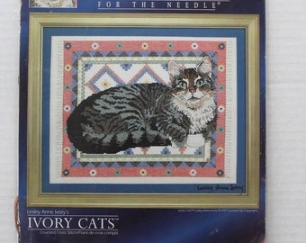 Designs For The Needle Ivory Cats Signature Series Counted Cross Stitch New.