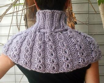 Shoulder Cozy Capelet in Smokey Lavender