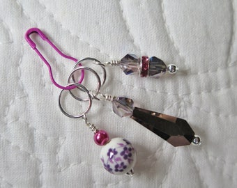 Stitch Markers Knitting Stitch Markers Beaded Stitch Markers Sparkly Stitch Markers