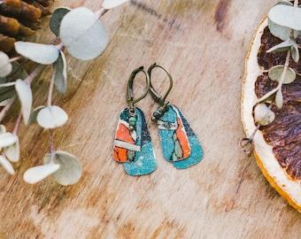 Vintage Tin Earrings - Walden Alpen Collection