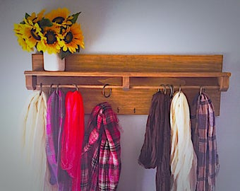 Scarf/Accessory Holder and Shelf