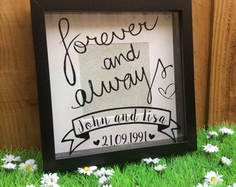 Personalised Anniversary Wedding Box Frame