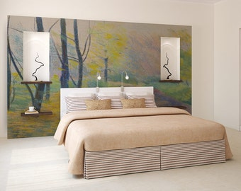 Autumn wallpaper, removable wallpaper, wall covering, peel and stick, wall decal