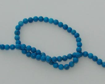5 beads 6 mm natural howlite blue