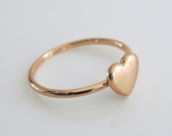 Rose Gold Ring - Heart Ring - Heart jewelry - Pink Gold jewelry - Fresh Jewelry Design