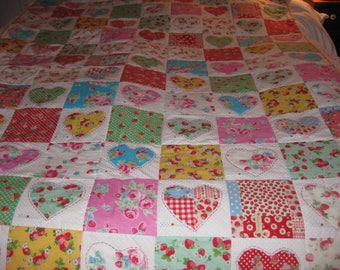 Strawberry Heart Quilt