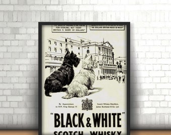 Black & white scotch whisky vintage posters canvas printing wall decor print home decor printable prints art print photo magnets