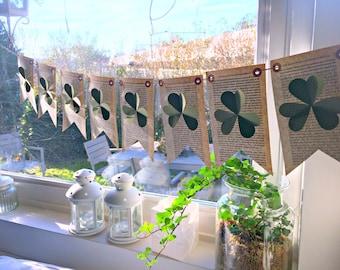 St Patricks Day decor, St patricks day banner, St patricks day garland, St Patricks day wreath, Shamrock, Irish gifts, St Patricks decor