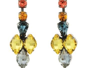 "Tova ""Safron"" swarovski crystal post drop earrings"
