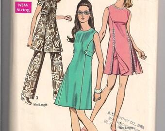Vintage 70's dress pattern Simplicity 8788, size 8