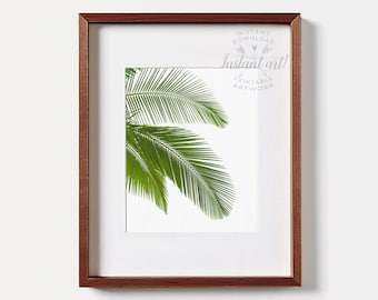 Palm print, PRINTABLE art, Tropical art, Minimalist, Modern art, Palm art, Palm tree decor, Wall print,printable decor,nature print,palm art