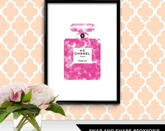 French Fashion House Perfume Bottle Illustration Polka Dot Print Poster | Printable Digital File