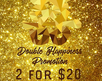 Chinese New Year 2 for 20 dollars Double Happiness promo sale