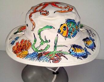 Octopus Reef Scene Outback Hat for Men