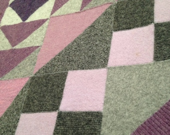 Recycled Wool Lap Blanket- Chain of Events