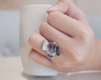 Coral Ring | Ocean Ring | Beach Jewelry | Ocean Jewelry | Nature Ring | Sea Life Ring | Animal Ring | Silver Ocean Ring | Gift For Her