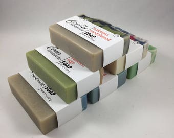 6 Artisan Soap Sampler Pack, Gift Set, Variety Soap Pack, Multi Pack Soap Set, Home Made Soap Bundle, Multi Pack Spa Gift, Bathroom Decor