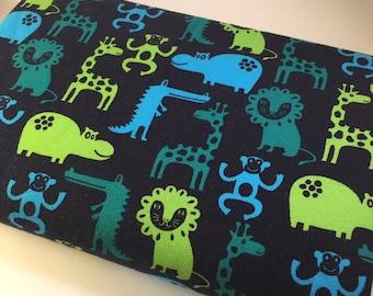 Little Darling Animal Sweatshirt Fabric, Kids Fabric, Sweatshirt Fabric,Jumper Fabric,Hoodie Fabric - Half Metre