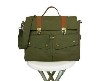 Diaper bag dark olive green/Messenger bag/Diaper bag backpack/Bags&Purses/Canvas Bags/Backpacks/Shoulder Bags/Crossbody Bags/diaper bags