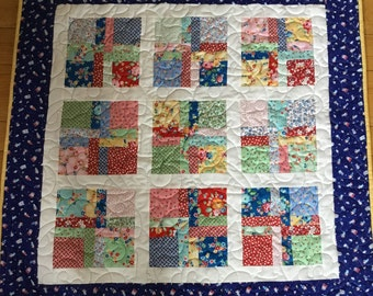 Baby Retro Quilt, Quilts for Sale, Handmade Quilts, Baby Quilts, Tummy Time Quilts, Baby Play Mat Quilt