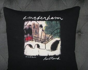 Handmade Amsterdam, Holland t-Shirt Throw Pillow