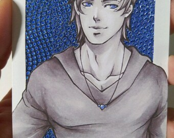 Limited Print Aceo / ATC  Blue Version 1-3
