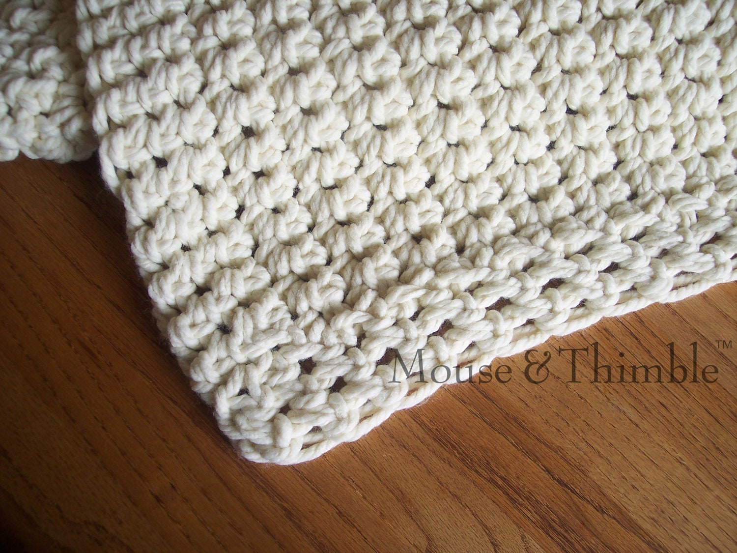 Crochet Blanket PATTERN / Easy Beginner / Chunky Afghan Sofa Throw ...