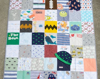 Baby Clothes Blanket Quilt Memory Keepsake