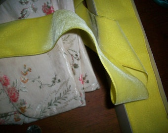 Vintage Velvet Fine rayon in chartreuse,  Wide Yardage available old store stock