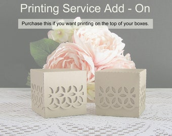 Printing Service Add On for Gift Boxes