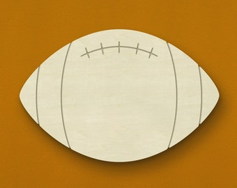 """18"""" Football Wooden Wall or Door Hanging - Unfinished Wood - Great for a little boy's room! Can be painted or stained!"""