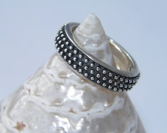 Handcrafted Solid.925 Oxidized Sterling Silver Band Ring -Custom Size