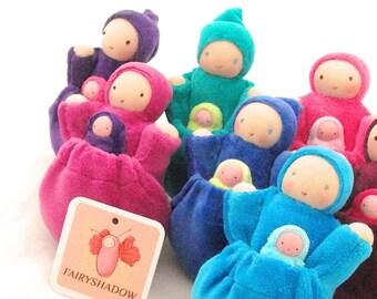 waldorf pocket doll starter pack 8-dolls BRIGHT colors
