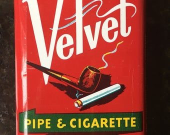 Vintage Velvet Pocket Tobacco Tin