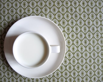 """Linen tablecloth natural beige linen moss green Eco Friendly 37""""x37"""" or made to order your size, great GIFT"""