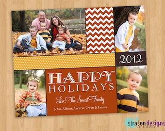 Costco cards etsy chevron christmas card custom printable 6 x 75 costco size can m4hsunfo Choice Image