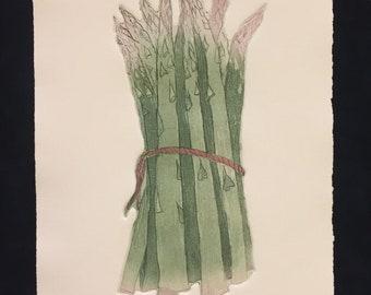 Asparagus by Charles Leonard Intaglio Artist Proof