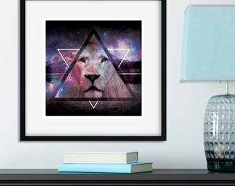 Mountain Lion Square Unframed Art Print