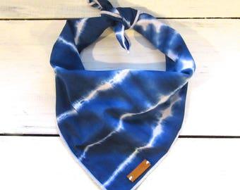 Shibori Tie Dye Dog Bandana