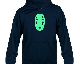Kaonashi Mask Glow in the Dark Hoody Hoodie Hooded Sweater