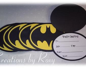 Batman Invitations Set of 12
