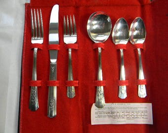 6 pc. Wm. A. Rogers Silverplate, ROSALIE, 1938