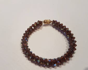 Color burgundy Swarovski Crystal bracelet
