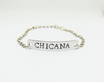Chicana childhood bracelet (xicana bracelet, latinx, mexican bracelet)