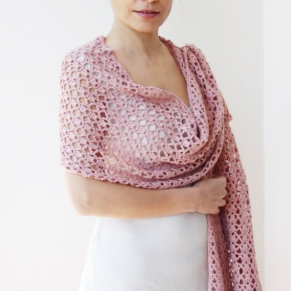 Crochet Pattern Woman Scarf Long Lace Wrap Women Shawl Stole
