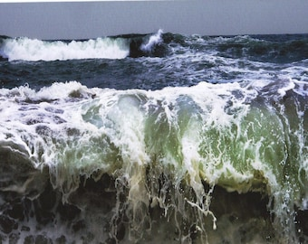 Point Reyes Ocean Wave, California. An Original Art Card.