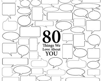 80 Things We Love About You - Vector Art